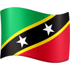 Bandiera di Saint Kitts e Nevis Emoji Facebook