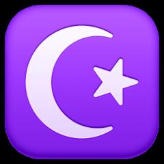 Star And Crescent Emoji on Facebook
