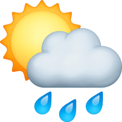 Sun Behind Rain Cloud Emoji on Facebook