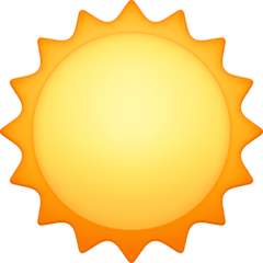 Sun Emoji on Facebook