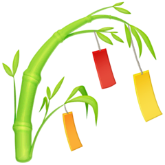 Tanabata Tree Emoji on Facebook