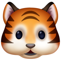 Tiger Face Emoji on Facebook