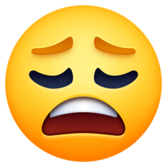 Weary Face Emoji on Facebook