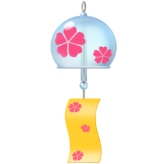 Wind Chime Emoji on Facebook