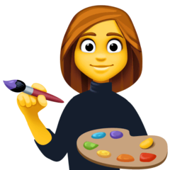 Woman Artist Emoji on Facebook