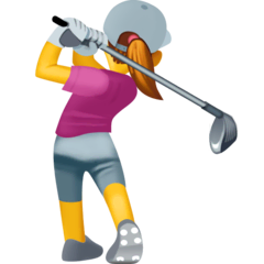 Woman Golfing Emoji on Facebook
