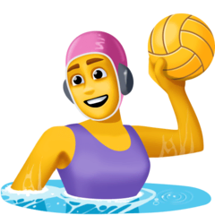 Woman Playing Water Polo Emoji on Facebook