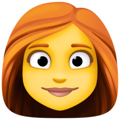 Woman: Red Hair Emoji on Facebook