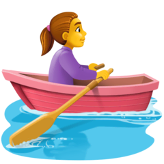 Woman Rowing Boat Emoji on Facebook