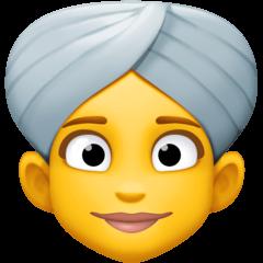 Frau mit Turban Emoji Facebook