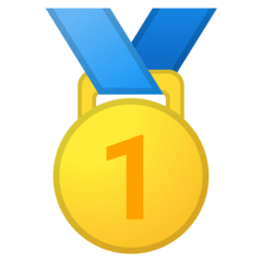 1st Place Medal Emoji on Google Android and Chromebooks