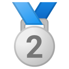 2nd Place Medal Emoji on Google Android and Chromebooks