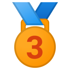 3rd Place Medal Emoji on Google Android and Chromebooks