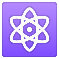 Atom Symbol Emoji on Google Android and Chromebooks