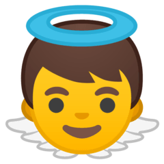 Baby Angel Emoji on Google Android and Chromebooks
