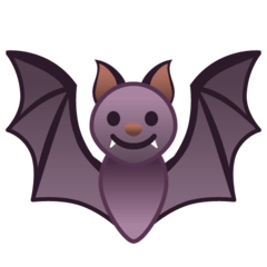 Fledermaus Emoji Google Android, Chromebook
