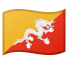 Flag: Bhutan Emoji on Google Android and Chromebooks