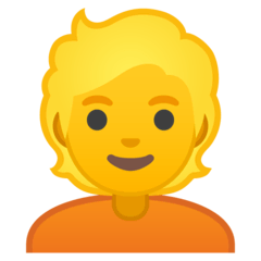 Person: Blond Hair Emoji on Google Android and Chromebooks