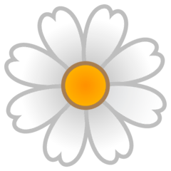 Blossom Emoji on Google Android and Chromebooks