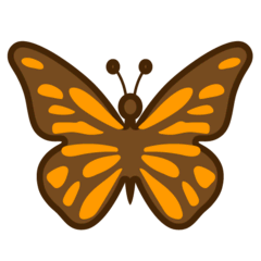 Schmetterling Emoji Google Android, Chromebook