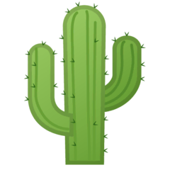 Cactus Emoji on Google Android and Chromebooks