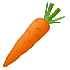 Carrot Emoji on Google Android and Chromebooks