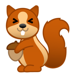 Chipmunk Emoji on Google Android and Chromebooks
