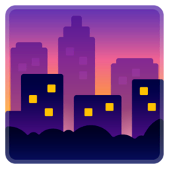 Cityscape at Dusk Emoji on Google Android and Chromebooks