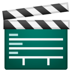 Clapper Board Emoji on Google Android and Chromebooks