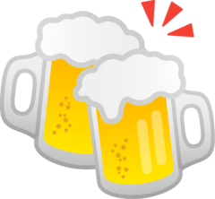 Clinking Beer Mugs Emoji on Google Android and Chromebooks