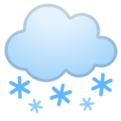Cloud With Snow Emoji on Google Android and Chromebooks