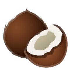 Coconut Emoji on Google Android and Chromebooks