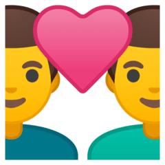 Couple With Heart: Man, Man Emoji on Google Android and Chromebooks