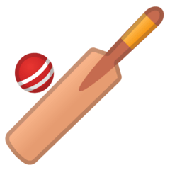 Mazza e pallina da cricket Emoji Google Android, Chromebook