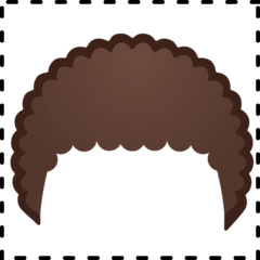 Curly Hair Emoji on Google Android and Chromebooks