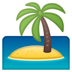 Desert Island Emoji on Google Android and Chromebooks