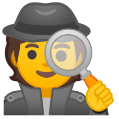 Detektiv(in) Emoji Google Android, Chromebook