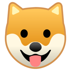 Dog Face Emoji on Google Android and Chromebooks