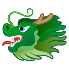 Dragon Face Emoji on Google Android and Chromebooks