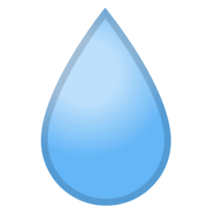 Droplet Emoji on Google Android and Chromebooks
