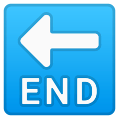 END Arrow Emoji on Google Android and Chromebooks