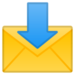 Envelope With Arrow Emoji on Google Android and Chromebooks