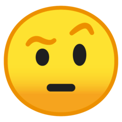 Face With Raised Eyebrow Emoji on Google Android and Chromebooks