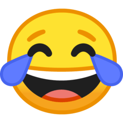 Face With Tears of Joy Emoji on Google Android and Chromebooks