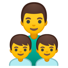 Family: Man, Boy, Boy Emoji on Google Android and Chromebooks