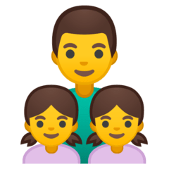 Family: Man, Girl, Girl Emoji on Google Android and Chromebooks