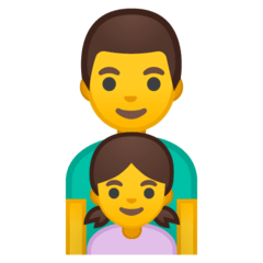 Family: Man, Girl Emoji on Google Android and Chromebooks