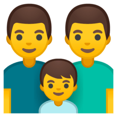 Family: Man, Man, Boy Emoji on Google Android and Chromebooks