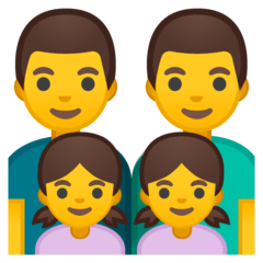 Family: Man, Man, Girl, Girl Emoji on Google Android and Chromebooks