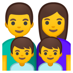 Family: Man, Woman, Boy, Boy Emoji on Google Android and Chromebooks